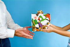 Gift Giving stock photo