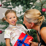 Gift giving in the family Royalty Free Stock Images