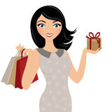 Gift giving Woman Royalty Free Stock Images