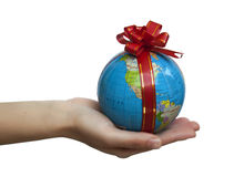 Gift globe Royalty Free Stock Image