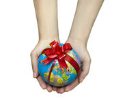 Gift globe Stock Images