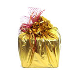 Gift gold Royalty Free Stock Photo