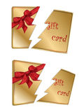 Gift gold card broken Royalty Free Stock Photography