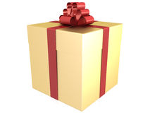 A gift of gold with a red ribbon №2 Stock Image