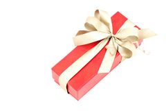 Gift with golden ribbon. Royalty Free Stock Photo