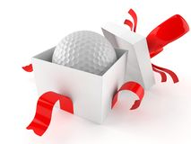 Gift with golf ball