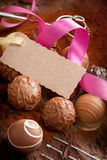 Gift Of Gourmet Chocolates Royalty Free Stock Photo