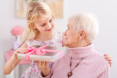 Gift for grandma Royalty Free Stock Photos