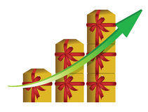 Gift graphic business graph Royalty Free Stock Photo