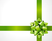 Gift green bow Royalty Free Stock Images