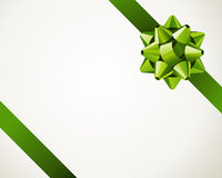 Gift green bow. Vector background Royalty Free Stock Image