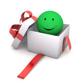Gift Green Smiley Royalty Free Stock Photos