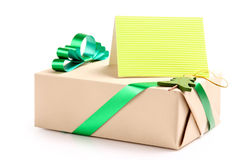 Gift with a greeting card Stock Photo