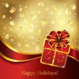 Gift greeting card. Royalty Free Stock Image