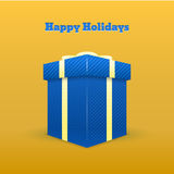 Gift greeting card - Happy holiday Royalty Free Stock Photos