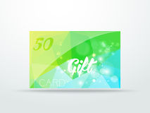 Gift greeting card  lime green glitter with shine Stock Images
