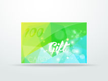Gift greeting card  lime green glitter with shine Royalty Free Stock Photos