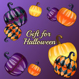 Gift for Halloween, festive background Stock Images