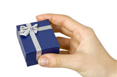 Gift in hand Royalty Free Stock Photo
