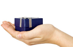 Gift in hand Royalty Free Stock Photos