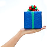 Gift on hand Stock Image
