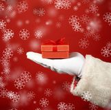 Gift on hand Stock Photography
