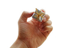 Gift hand to you Royalty Free Stock Image