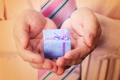 Gift in hands Stock Photos