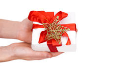 Gift in hands Royalty Free Stock Photo