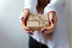 A gift in the hands royalty free stock images