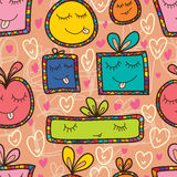 Gift happy abstarct cute seamless pattern Stock Images