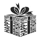 Gift Happy Birthday text warping Stock Image