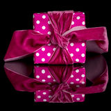 Gift that has been wrapped for a birthday Royalty Free Stock Image