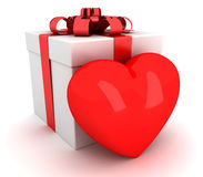 Gift that heart. 3D render Stock Photography