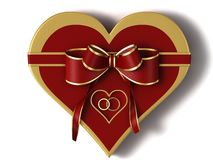Gift of a heart Stock Images