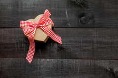 Gift  heart background Stock Photography