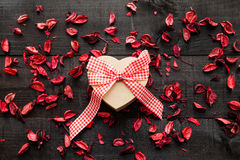 Gift  heart background Stock Images