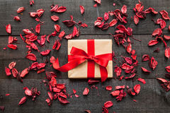 Gift  heart background Royalty Free Stock Photos