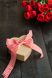Gift  heart background Royalty Free Stock Photography