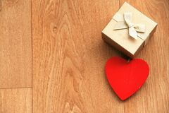 Gift with heart Stock Image