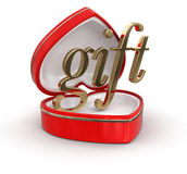 Gift in the heart box Stock Photo