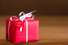 Gift heart I love you Royalty Free Stock Photography