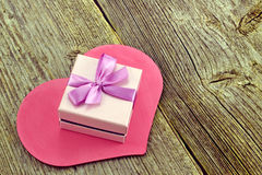 Gift with heart Stock Photos