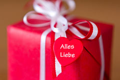 Gift heart lots of love Stock Image