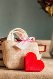 Gift and heart for mom Stock Image