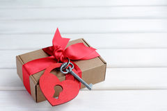 Gift from the heart Stock Images