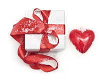 Gift and heart Stock Image