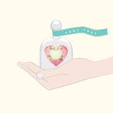 Gift of a heart symbolising Pure Love Royalty Free Stock Photo