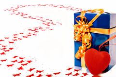 Gift with heart Stock Photography