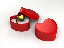 Gift heart wedding ring valentine day stock illustration